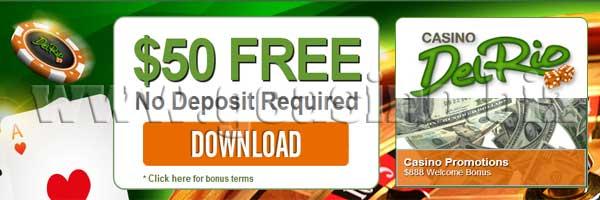 casino del rio no deposit bonus